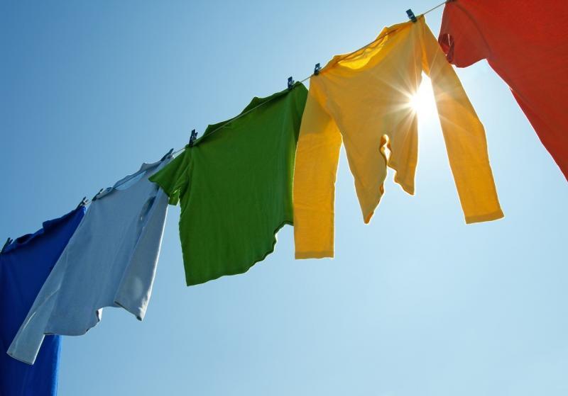 Droog uw wasgoed buiten